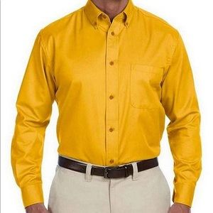 Other - Harriton Men's Easy Blend Long Sleeve Twill Shirt